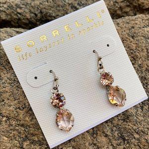 Sorrelli Vintage Rose Swarovski Earrings NWT
